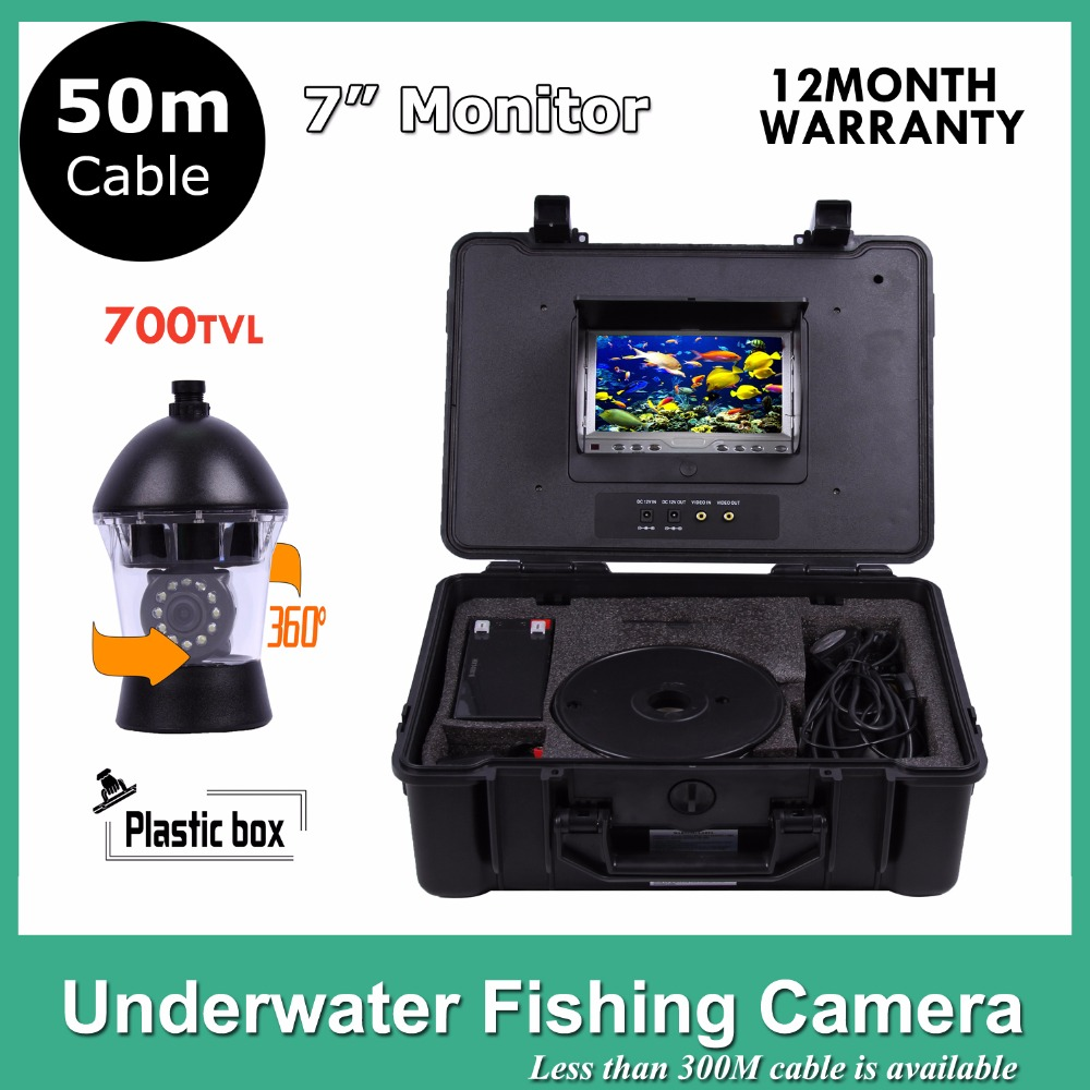 Fish Finder 12Pcs White Leds Camera Nightvision fishing camera Rotate 360 Degree 50m cable 20m cable underwater fishing camera fish finder with 1 3 sony ccd effio e 12pcs white leds camera night vision rotate 360 degree