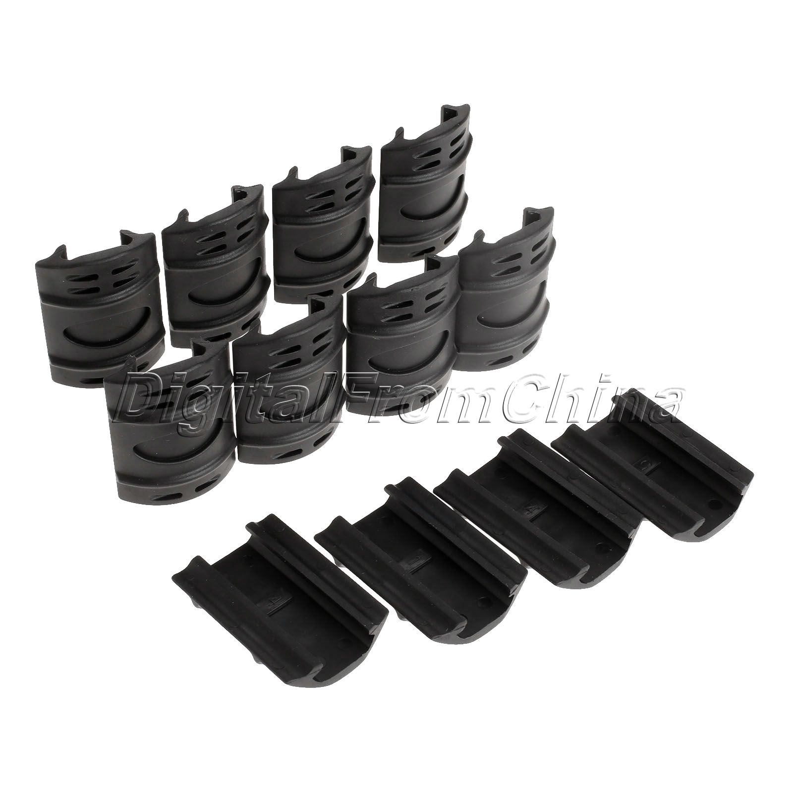 2016 NEW Arrivals Tactical For Picatinny Weaver Black Rail Rubber Cover Panels Guard Covers Rubber Handguard Quad Rail Covers