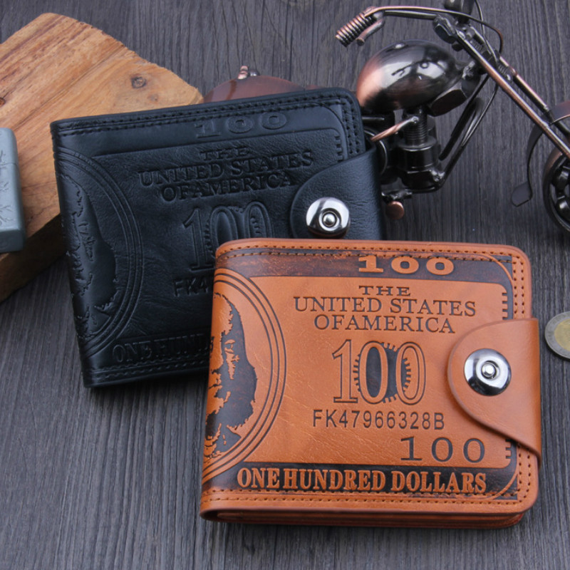 Men Wallets Soft PU Leather Hasp Designer Money Clip With Coin Pocket Purse 2019 New Gift Card Hold Dollar  Bag Black Brown