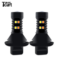 Tcart 1Set 1156 BA15S Upgraded Auto LED Bulbs WY21W Driving Lamp 3030 Car DRL Daytime Running Lights PY21W Turn Signals For Cars