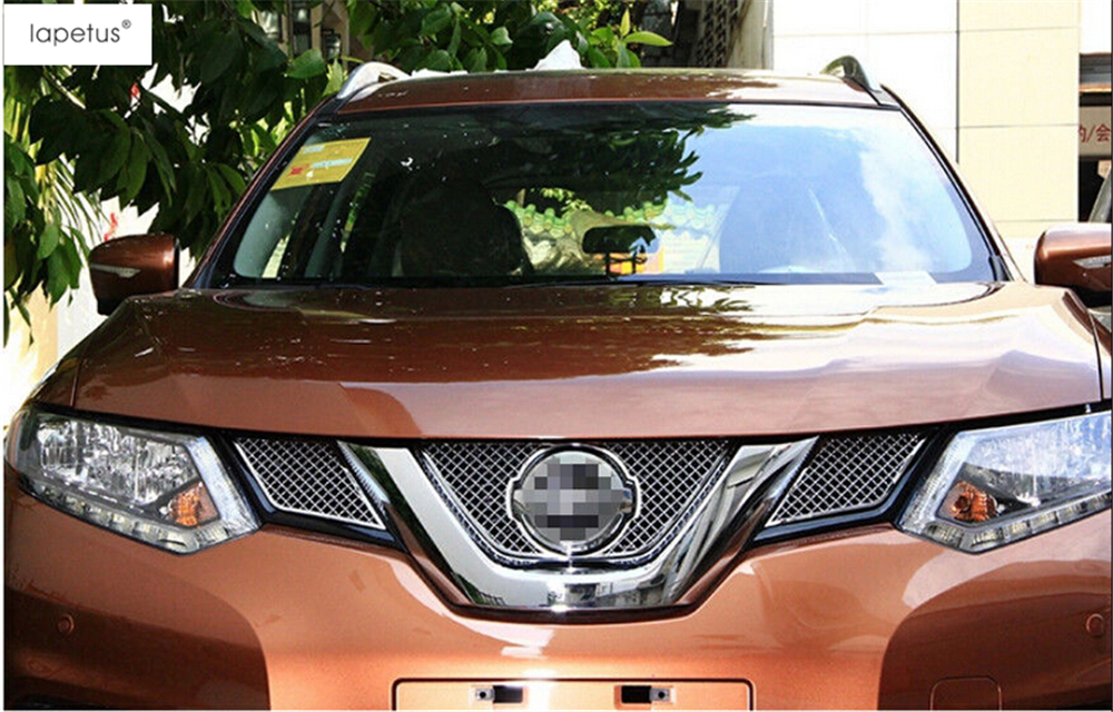 Accessories For Nissan X-Trail X Trail T32 Rogue 2014 2015 2016 Honeycomb Style Front Head Grille Grill Net Lid Cover Kit Trim car rear trunk security shield shade cargo cover for nissan x trail xtrail rogue 2014 2015 2016 2017 black beige