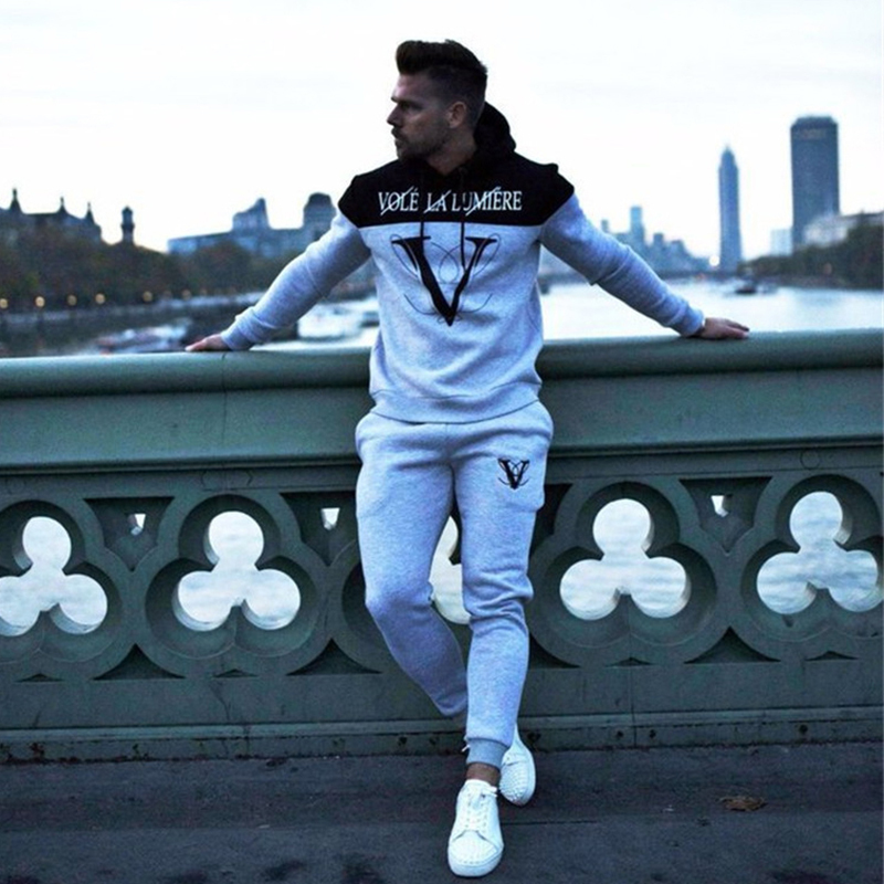 Suit Sport Clothing Set Running Jogger Tracksuit (8)