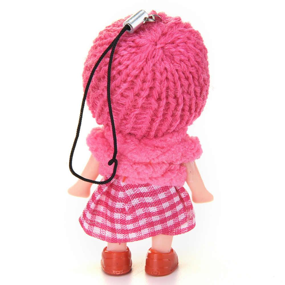 1 шт. новый детский каваи Мобильный телефон с мультяшками ремни милый мини кулон в форме Куклы подвеска для мобильного телефона шнурок
