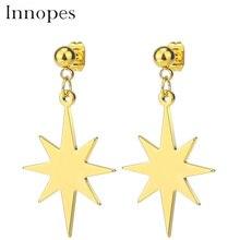 Innopes Star  Stud Earrings set 2019 fashion jewelry for women female girl Geometric hanging Oorbellen accessories