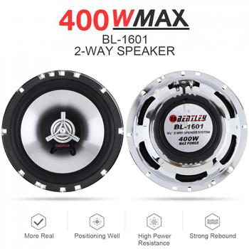 1Pair 6.5 Inch 400W Car Coaxial  Auto Audio Music Stereo Full Range Frequency Hifi Speakers Non-destructive Installation