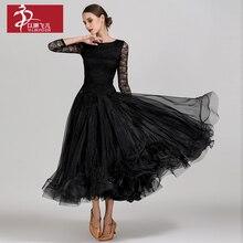 Новое платье для соревнований бальных танцев, бальные платья для вальса, стандартное платье для танцев, женское бальное платье 1855