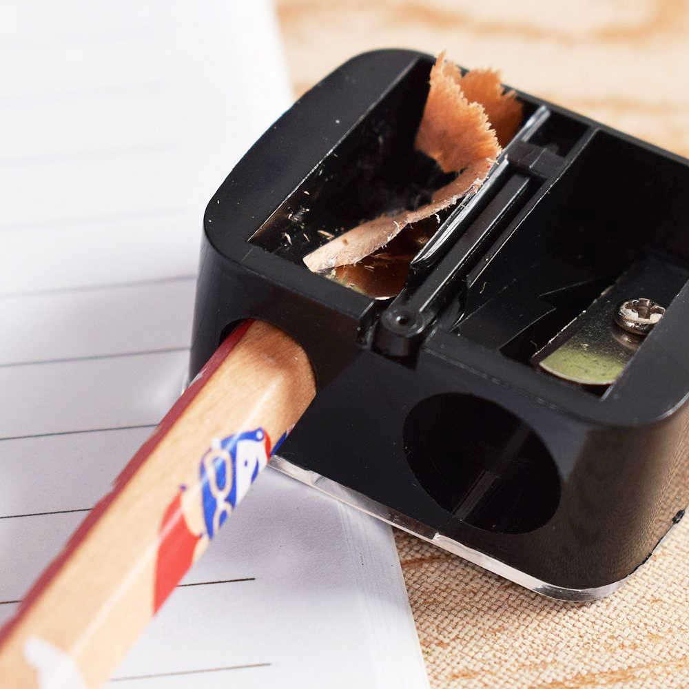 موضة 2 ثقوب الدقة التجميل براية أقلام ل الحاجب الشفاه بطانة كحل قلم رصاص مدرسة مكتب التموين هدية Hot البيع