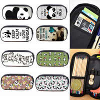 Estuche de lápices de gran capacidad Panda Pencilcase de doble capa multifunción caja de lápices para niños niñas regalos Oficina suministros escolares
