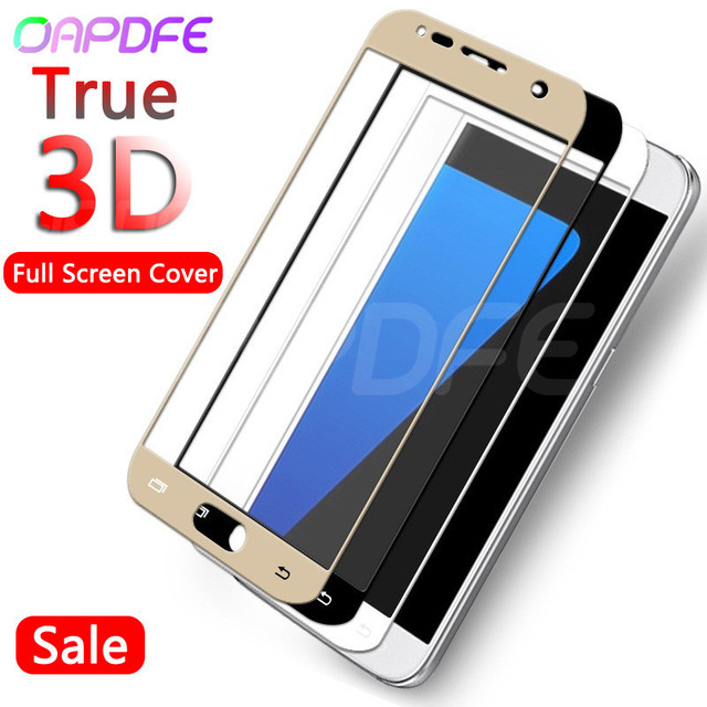 OAPDFE 3D Full Cover Tempered Glass on the For Samsung Galaxy S7 A7 A5 A3 2017 J3 J5 J7 2016 2017 Screen Protective Glass Film