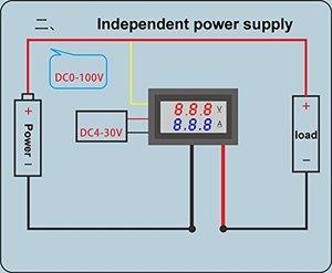 Image 3 - Ledアンプデュアルデジタル電圧計ゲージ 0.28 dc 0 100v 0 10Aデジタル電圧計電流計テスターvoltimetro ledデュアルディスプレイ