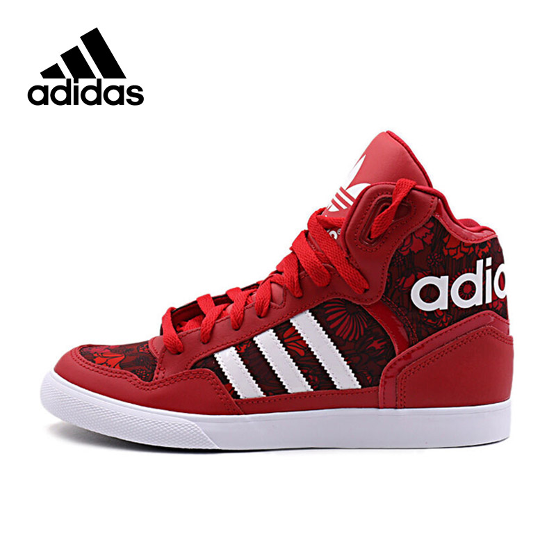 Authentic Originals Adidas EXTABALL Women's Hard-Wearing Skateboarding Shoes Sports Sneakers Female High Top New Arrival недорго, оригинальная цена