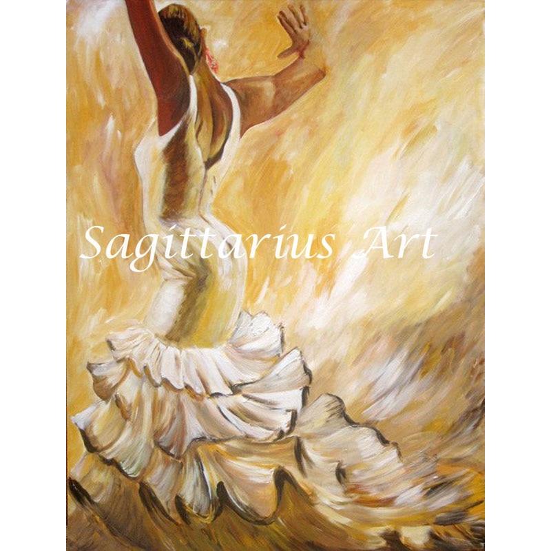 Abstract Handmade Pop Art Modern Famous Spanish Tango Dancer Oil Painting on Canvas Wall Art