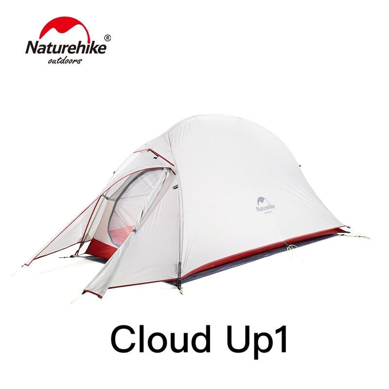 Nature randonnée nuage Up série ultra-léger Camping tente imperméable à l'eau en plein air randonnée tente 20D Nylon sac à dos tente avec tapis gratuit - 3