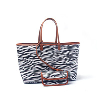 Personalize Women Handbag Shoulder Bag Top Quality Zebra Leopard Printing Faux Leather Lady Casual Tote Bag