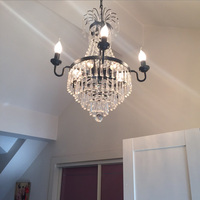 French Dining Room Lights Interior Lighting Contemporary Kitchen Bedroom Lamp Vintage Wedding Crystal Chandelier Light