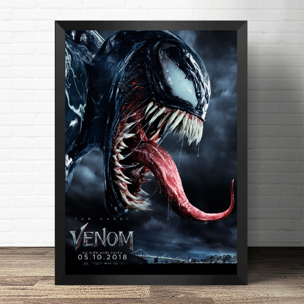 Us 2 91 45 offmovie poster venom movie tom hardy marvel painting comics hero poster canvas print wall art picture for living room home decor in