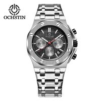2018 Luxury Watch Men Top Brand OCHSTIN Chronograph Men Sports Watches Fashion Business Full Steel Quartz Men's Watch Clock Men