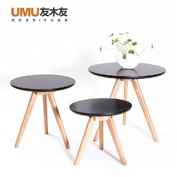 Hogares nórdicos muebles de roble blanco de madera maciza mesa de té ...