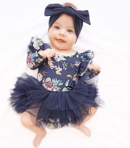 Outfit Tutu-Dress Baby-Girls Autumn Long-Sleeve Newborn Infant