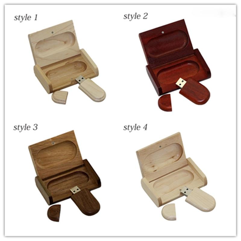 Cadou personal creativ din lemn personalizat lemn cu cutie USB flash drive u disc USB2.0 flash drive 4G 8GB 16GB 32GB 64GB