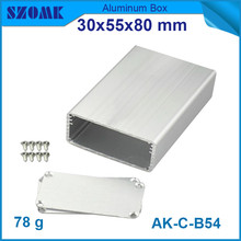 4pcs/lot anodizing aluminium distribution box in silver color  electrical switch box 30*55*80mm