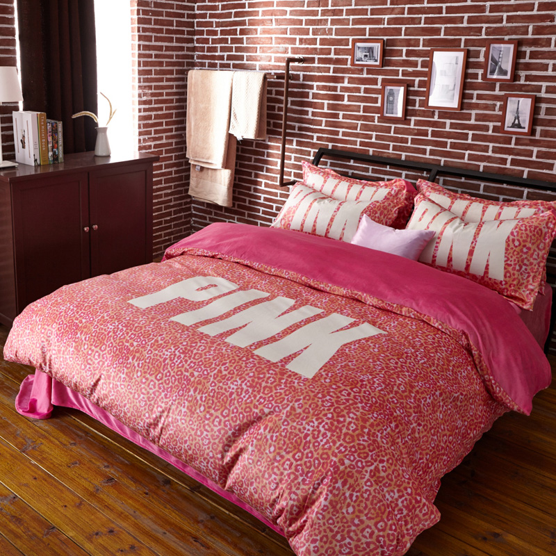 Pink Leopard Print Bedding