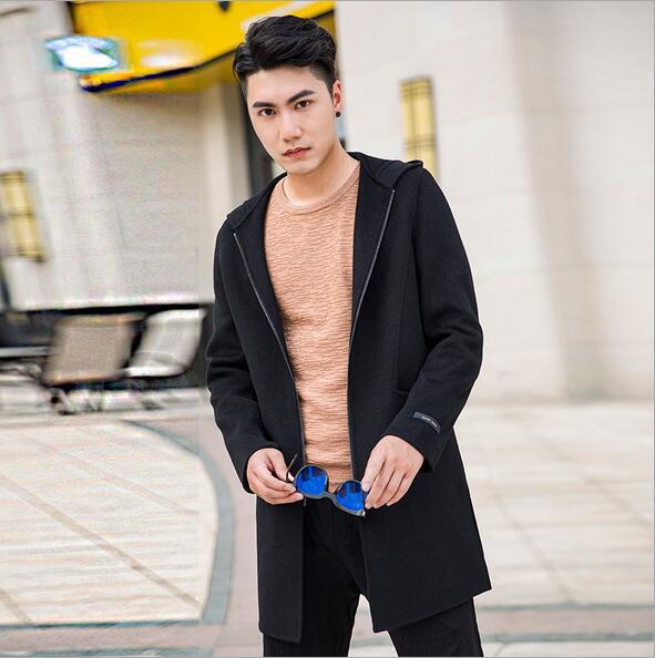 Smeiarar 2018 Для мужчин куртка длинная куртка с секциями Модный плащ Новый Осень Марка Повседневное Сельма подходят пальто куртка мужской P-B-6823