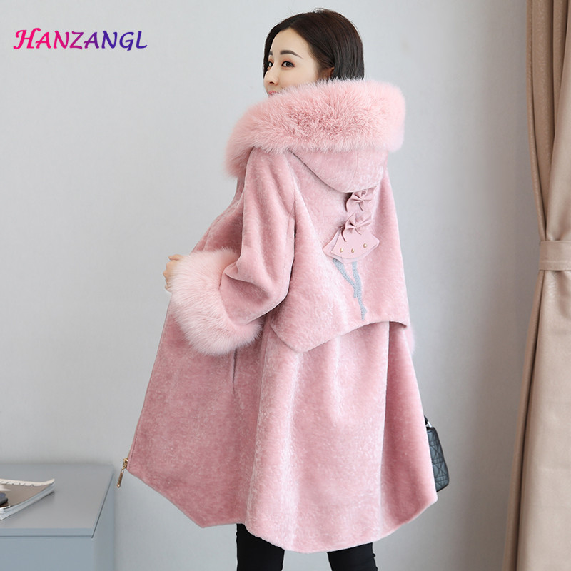 Bearskin Coat Long Dark