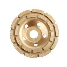 купить 5 6 7  Pro Diamond Double Row Cup Wheel Hard Concrete Field Stone Grinding дешево