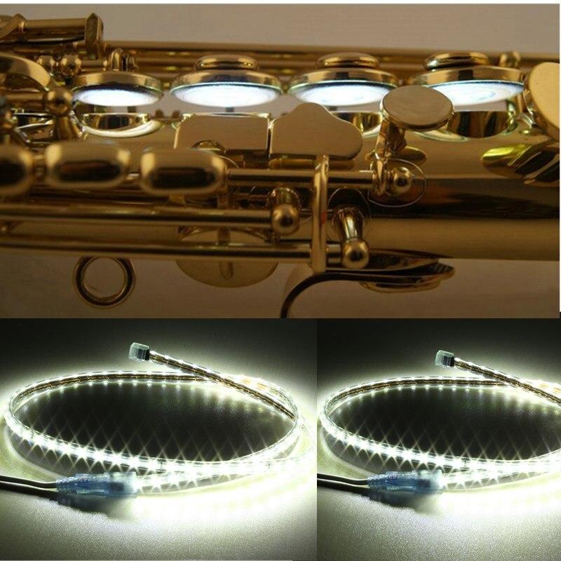 1PCS 100cm LED Leak Light Sax Repair Tool For Saxophone Clarinet Flute Oboe Woodwind Instruments Parts & Accessories