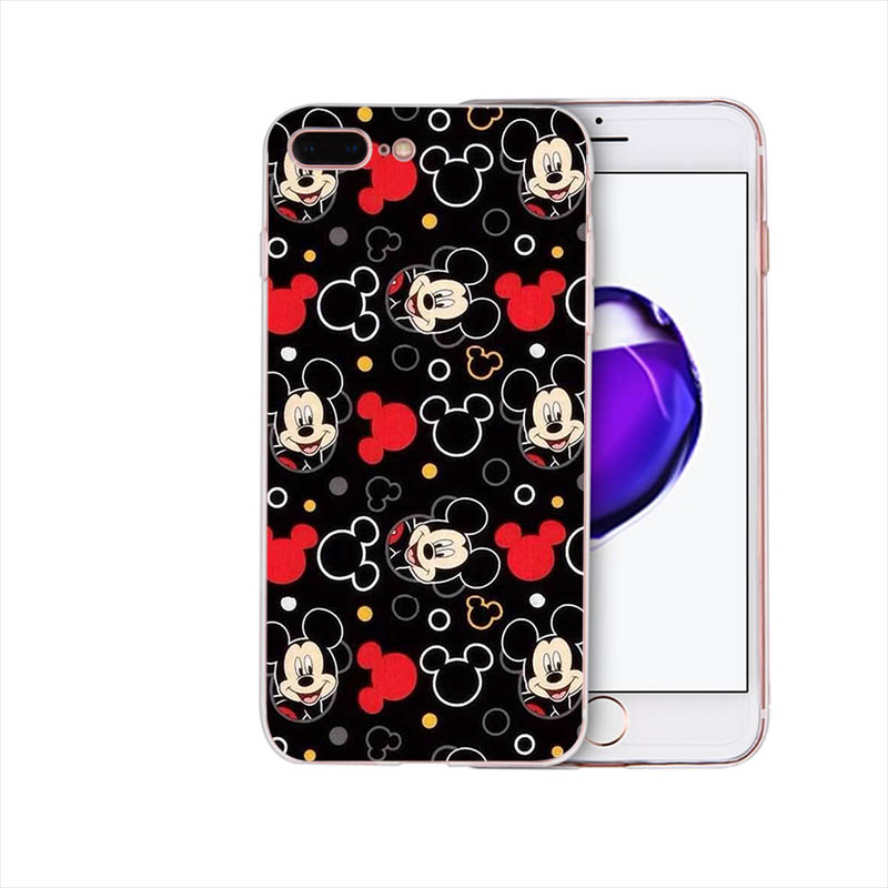 Mickey Minnie Mouse Soft silicone cover For iPhone 6s 6 7 8 plus 5 5S SE XR XS max X cute Cartoon pattern phone case Funda Coque in Half wrapped Cases from Cellphones Telecommunications