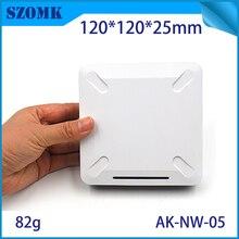 2 шт. сетевой распределительный ящик pcb дизайн wifi чехол для роутера diy сетевой Пластиковый корпус для прожектора модемов корпус 120X120X28 мм