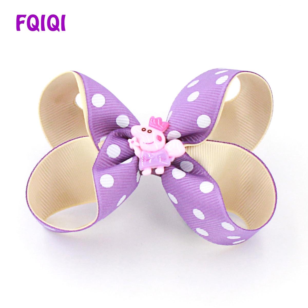 Hair Accessories Handmade 4 Inch Hair Clip Bow Lilac