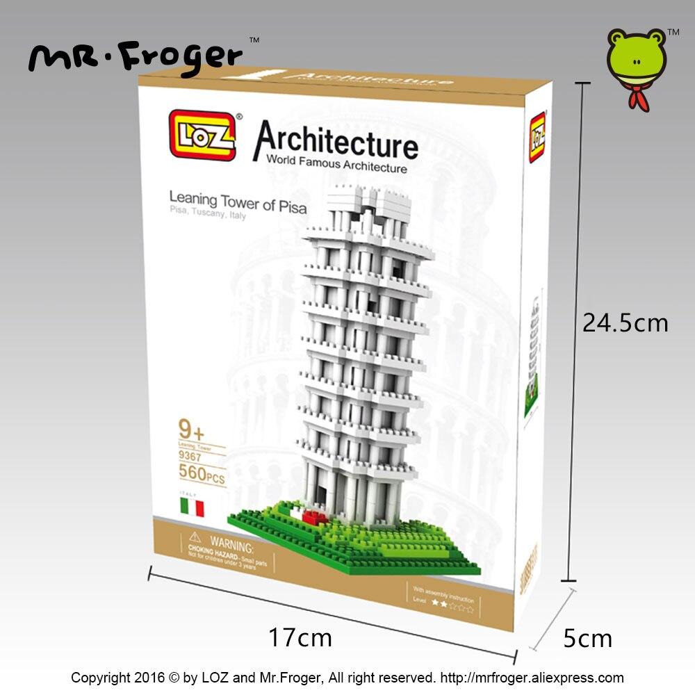 Mr.Froger LOZ Tower of Pisa Diamond Block World Famous Architecture - Byggklossar och byggleksaker - Foto 6