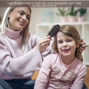 Image 4 - Lisapro щетка для горячего воздуха стайлер и сушилка одношаговый фен и волумайзер для завивки волос выпрямитель расческа Инструменты для укладки волос
