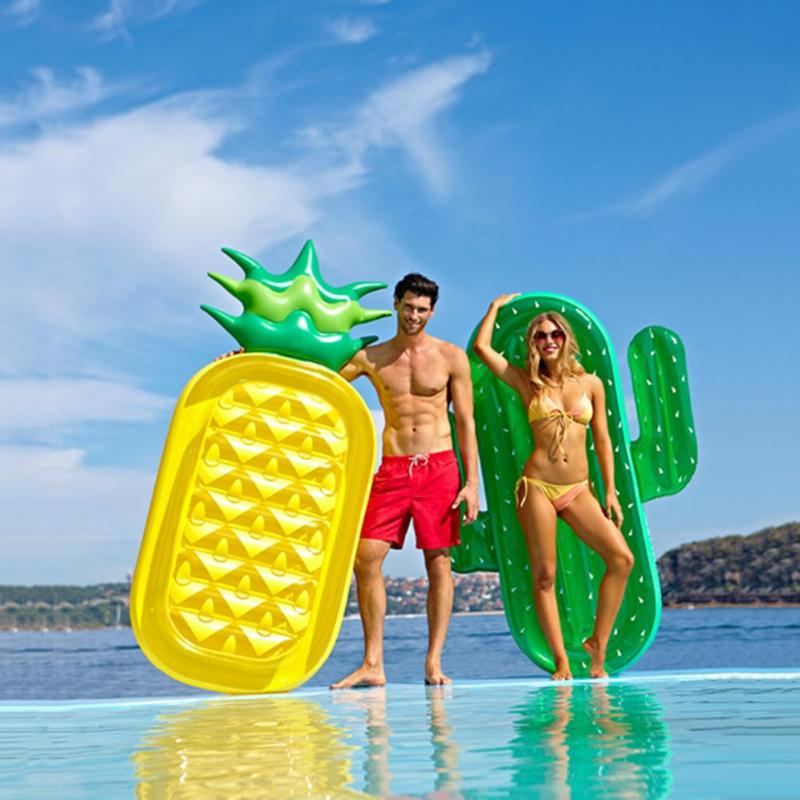 Giant Watermelon Floats Icecream Rainbow Swimming Ring Cactus Inflatable Pool Float Raft For Child&Adult Water Toys