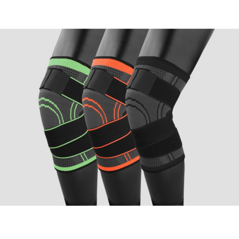 Unisex Knee Sleeve 3d Pressurized Fitness Running Cycling Bandage Leg Protector Pad Elastic Nylon Sports Compression Knee Cap