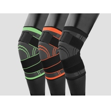 Unisex Knee Sleeve 3d Pressurized Fitness Running Cycling Bandage Leg Protector Pad Elastic Nylon Sports Compression Cap
