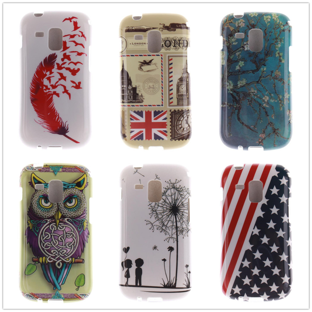 Art Tpu Phone Case For Samsung Galaxy Trend S7560 S Duos S7562 Goospery Core 2 Canvas Diary Gray S7582 Plus S7580 Ace Ii X S7560m Owl Cover