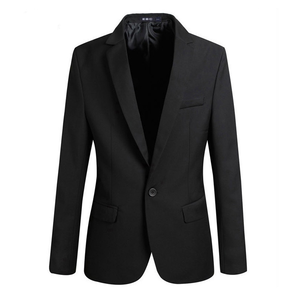 YJSFG HOUSE Brand Men's Blazer Stylish Slim Fit Smart Casual Vintage One Button Blazer Coat Suit Jacket Notched Office Business