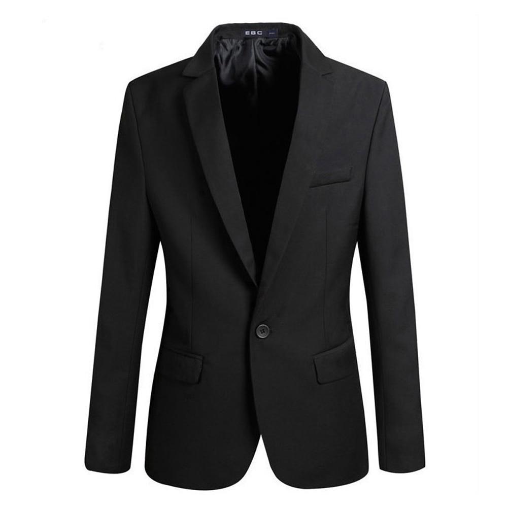YJSFG HOUSE Brand Men's Blazer Stylish Slim Fit Smart Casual Vintage One Button Blazer Coat Suit Jacket Notched Office Business