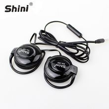 Earphone 3.5mm Stereo Shini360 Ear Hook For Iphone Telephone Headset Samsung Xiaomi Headphone Factory Price Wholesale good quality for radio walkie talkies earphone with mic ear hook headset headphone best price