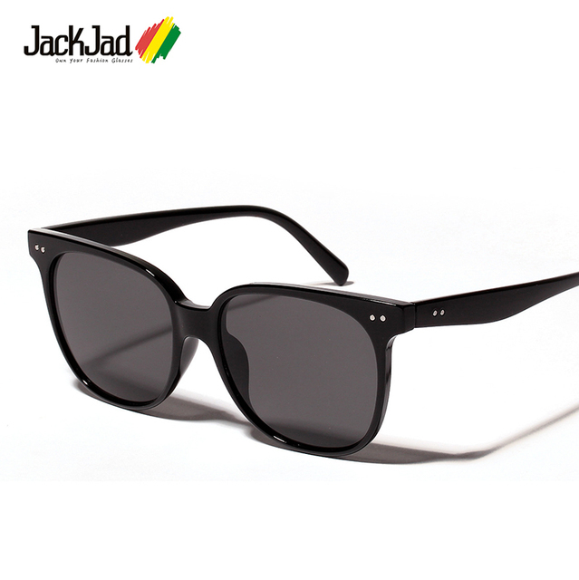 fc7ea3360c27 JackJad 2018 Fashion Cool Vintage Square Style Gradient Sunglasses Women  Two Dots Brand Design Sun Glasses