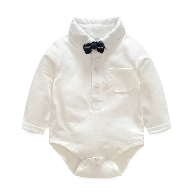 9a0f91fdf4b40 IYEAL Baby Boys Clothes Sets Bow Ties Long Sleeve Bodysuit Suspenders Pants  Toddler Boy Gentleman Outfits Suits(0-18Months)