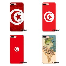 Soft Transparent Cases Covers tunisia flag For Samsung Galaxy S3 S4 S5 Mini S6 S7 Edge S8 S9 S10 Plus Note 3 4 5 8 9(China)