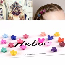 10pcs Wholesale Price Baby Girls Small Hair Claw Cute Candy Color Flower Flowers Gripper Headwear Girl Accessories