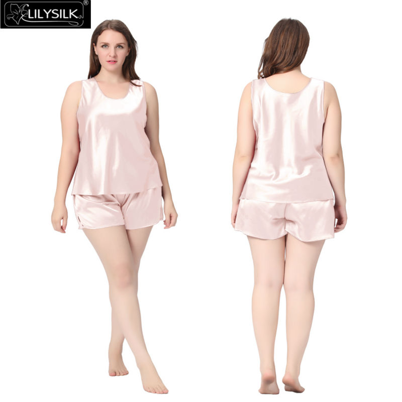 560980f15e Lilysilk Silk Pajamas Set Tank Top With Shorts for Women Sleeping 22 ...