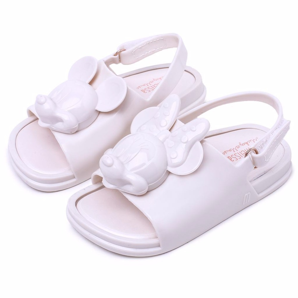 Mini Melissa Girls Sandals 2018 Summer Fashion Cute Cartoon Love Mickey Minnie Soft Toddler Baby Shoes Kids Sandals in Sandals from Mother Kids