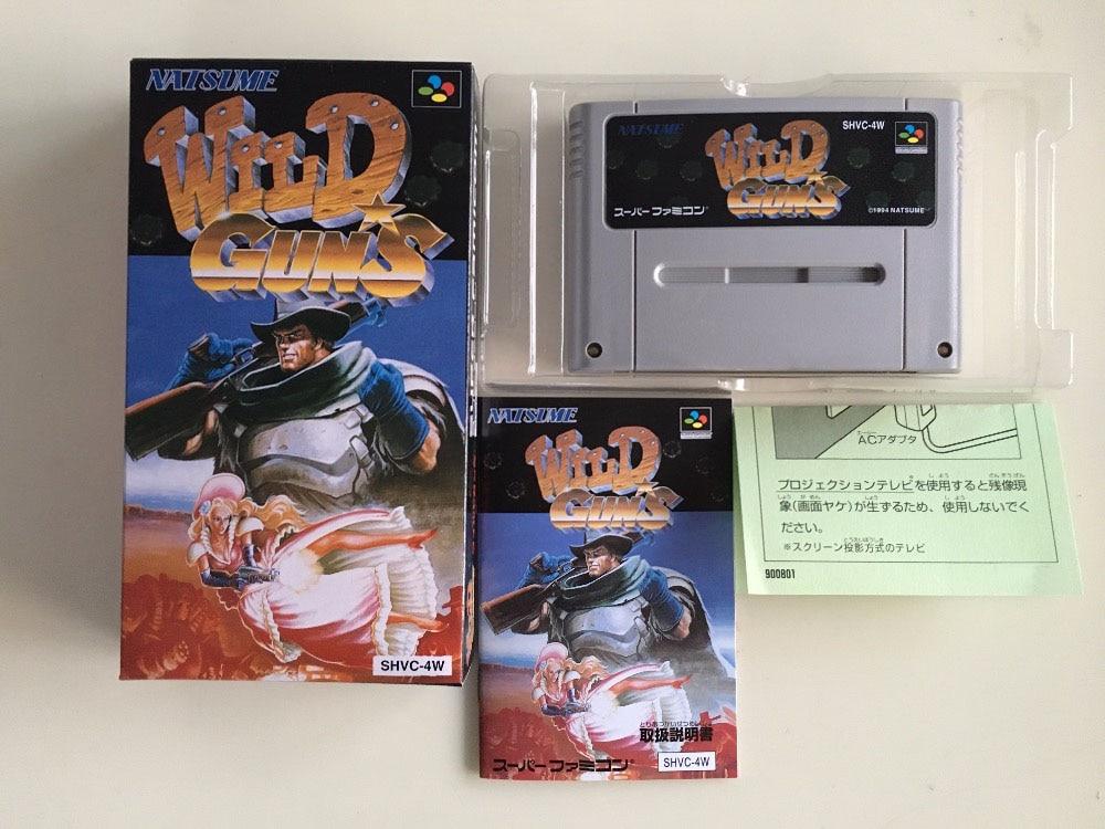 16Bit Games ** WILD GUNS ( Japan NTSC-J Version!! Box+Manual+Cartridge!! )