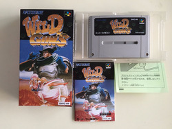 16Bit Games ** WILDE GUNS (Japan NTSC-J Versie!! Doos + Handleiding + Cartridge!!)